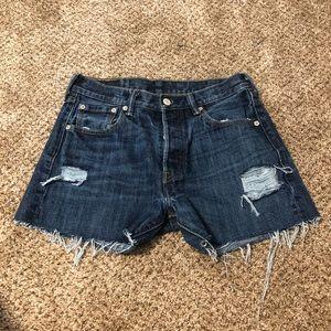 Levi's 501 Distressed Cutoff Jean Shorts